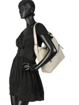 Hobo Bag Cow Leather Basilic pepper Gray cow BCOW08-vue-porte