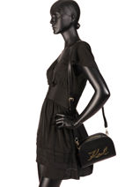 Shoulder Bag K Signature Leather Karl lagerfeld Black k signature 91KW3059-vue-porte