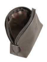 Purse Leather Hexagona Gray confort 460597-vue-porte