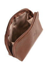 Purse Leather Hexagona Brown confort 467389-vue-porte