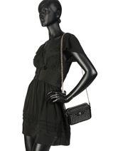 Longchamp Mademoiselle longchamp rock Clutches Black-vue-porte