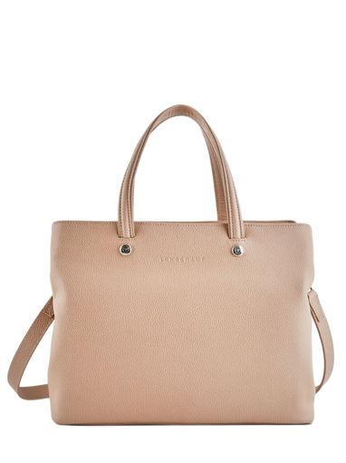 Longchamp Le foulonné Handbag Beige