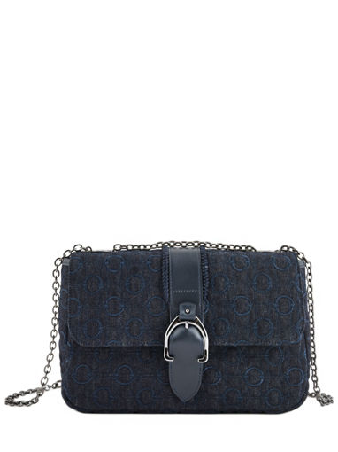 Longchamp Amazone denim Besaces Bleu