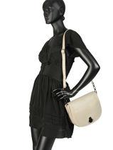 Longchamp Alezane Sacs porté travers Beige-vue-porte