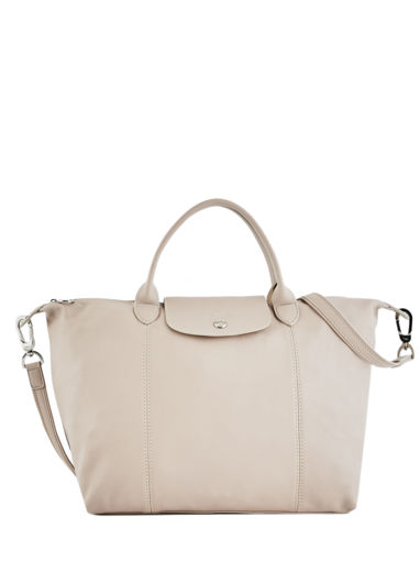 Longchamp Sacs porté main Beige