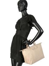 Longchamp Sacs porté main Beige-vue-porte