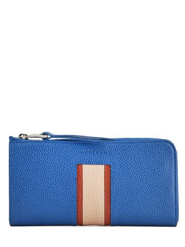 Longchamp Le foulonnÉ tricolore Portefeuilles Bleu