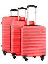 Lot De Valises Madrid Travel Rouge madrid 1701-LOT