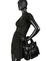 Shopping Bag Forever Paillette Sonia rykiel Black forever paillette 2279-93-vue-porte