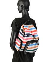 Large Backpack Forever Nylon Sonia rykiel Multicolor forever nylon 2283-38-vue-porte