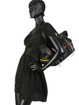 Sac Shopping Luxembourg Cuir Sonia rykiel Noir luxembourg 2296-41-vue-porte