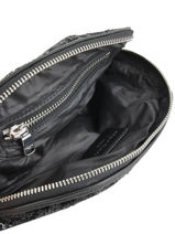 Zip Pouch Forever Nylon Sequins Sonia rykiel Black forever paillette 2481-93-vue-porte