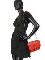 Longchamp Amazone matelassÉ Besaces Rouge-vue-porte