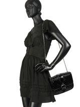 Longchamp Amazone matelassÉ vernis Besaces Noir-vue-porte