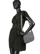 Shoulder Bag Fidele Hexagona Gray fidele 323915-vue-porte