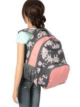 Sac à Dos 2 Compartiments Roxy Noir backpack RJBP3884-vue-porte
