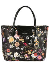 Sac Porté Main Maya Exotic Flower Lancaster Noir maya exotic flower 517-69