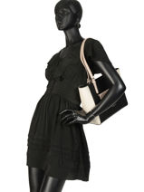 Shoulder Bag Constance Leather Lancaster Black constance 437-12-vue-porte