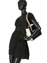 Sac Cabas Constance Cuir Lancaster Noir constance 437-12-vue-porte