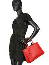 Top Handle Palma Leather Milano Red palma PA16062N-vue-porte