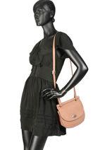 Shoulder Bag Casac Leather Etrier Pink casac ECAS02-vue-porte