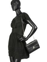Crossbody Bag Gena Rock Studs Leather Lancaster Black gena rock studs 571-45-vue-porte