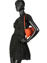 Mini-bag  Leather Milano Orange 127-vue-porte