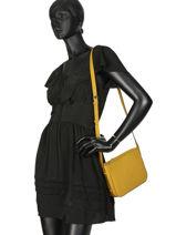 Shoulder Bag Balade Leather Etrier Yellow balade EBAL05-vue-porte