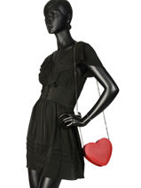 Sac Bandoulière Luga Cuir Milano Rouge luga LOVE-vue-porte