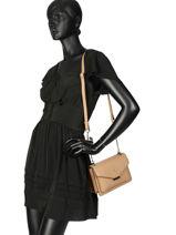 Shoulder Bag Cabriole Leather Etrier Black cabriole ECABR02-vue-porte