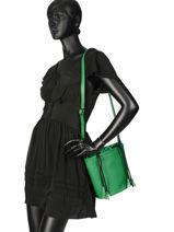 Bucket Bag Cabriole Leather Etrier Green cabriole ECABR04-vue-porte