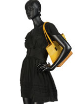 Shoulder Bag Soft Miniprix Yellow soft G7362-vue-porte
