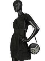 Crossbody Bag Miniprix Black reptile R1508C-vue-porte