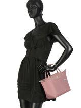 Longchamp Le pliage club Handbag Pink-vue-porte