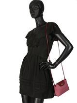 Longchamp Le pliage dandy Sacs porté travers Rose-vue-porte