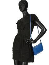 Longchamp Le foulonné Sacs porté travers Bleu-vue-porte