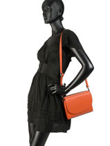 Shoulder Bag  Leather Milano Orange CA17068-vue-porte