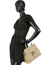 Top Handle Velvet Leather Milano Beige velvet VE180601-vue-porte