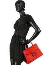 Sac Porté Main Velvet Cuir Milano Rouge velvet VE180601-vue-porte