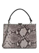 Top Handle Python Leather Milano Silver python PI18111