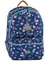 Backpack 2 Compartments With Free Pencil Case Poids plume Blue liberty LIB1855