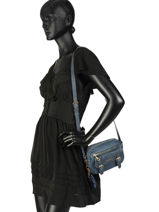 Shoulder Bag Irise Lulu castagnette Blue irise KENAEL-vue-porte