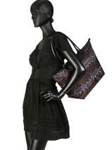 Longchamp Le pliage ikat Hobo bag Blue-vue-porte