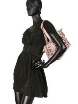 Shoulder Bag Floral Lulu castagnette Pink floral KOLANTA-vue-porte