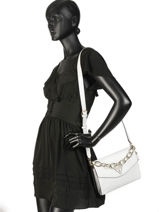 Shoulder Bag Maddy Guess White maddy VG729121-vue-porte