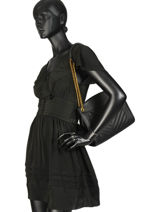 Crossbody Bag Vintage Leather Nat et nin Black vintage SIMONEMA-vue-porte
