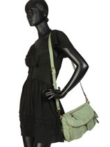 Crossbody Bag Emblematique Lulu castagnette Green emblematique KARIN-vue-porte
