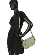 Crossbody Bag Emblematique Lulu castagnette Green emblematique KELLY-vue-porte