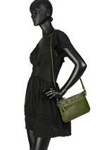 Satchel Vintage Leather Nat et nin Beige vintage VICKY-vue-porte