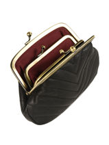 Purse Leather Nat et nin Black vintage AVA-vue-porte